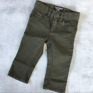 Cool baby boy pants in olive green color